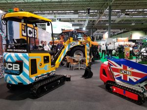 Electric JCB Digger on show at SALTEX 2019